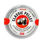 "ПУЛИ ""ЛЮМАН"" CLASSIC PELLETS  кал.4,5мм (300шт) 0,65гр"
